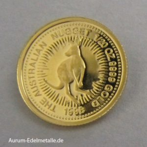 Goldmünze 1_20 oz Kangaroo 1998