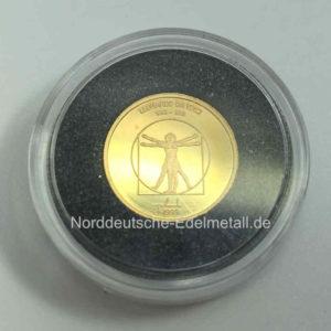 Mongolei 1000 Tugrik Feingold 9999 Goldmuenze