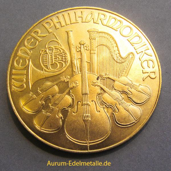 Österreich Wiener Philharmoniker 2000 Schilling 1oz Feingold 9999