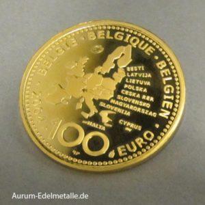 100 Euro 2004 Belgien EU-Erweiterung