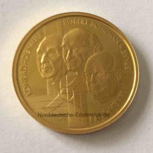 Belgien 100 Euro Gold 999 1_2 oz Feingold 2002 Gruendervaeter Europas