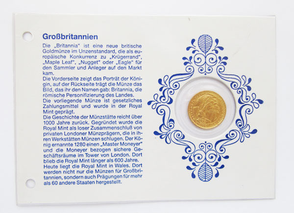 England Britannia 25 Pounds 1_4 oz Goldmuenze