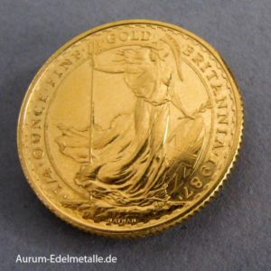England Britannia 25 Pounds 1_4 oz Goldmünze