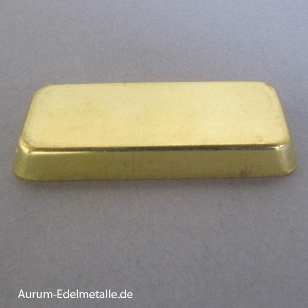 Goldbarren 100g historisch Sargform Degussa