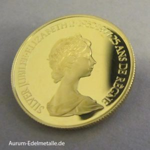 Kanada 100 Dollars 1_2 oz Gold Jubiläum 1952-1977