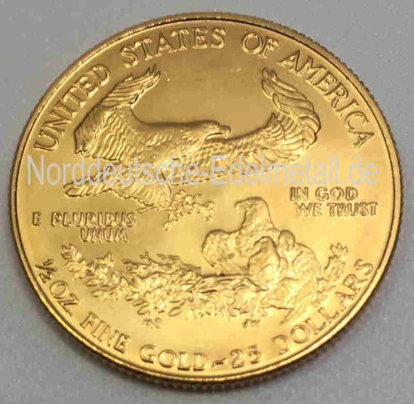 USA Eagle 25 Dollars 1_2oz Feingoldgehalt