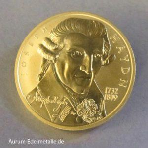 Österreich 50 Euro Goldmünze Haydn