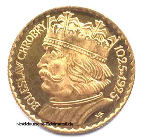 Polen Goldmuenze 10 Zloty
