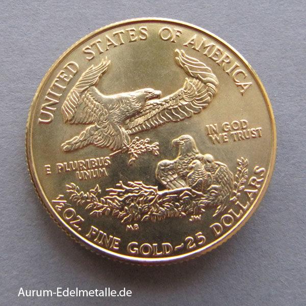 USA Eagle 1_2oz Feingold 25 Dollars
