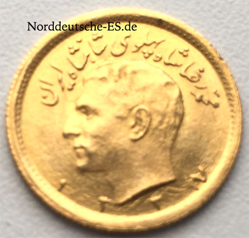 Persien 1_2 Pahlavi Goldmuenze 3,65g Feingold