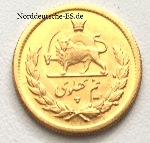 Persien- Iran 1_2 Pahlavi Gold