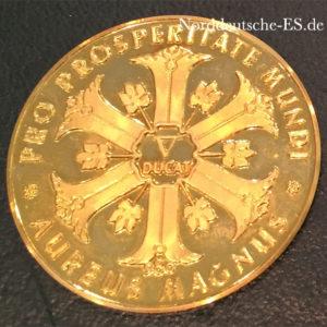 Aureus Magnus Dukatengold PIUS XII Pontifex Maximus V Dukat