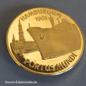 Aureus Magnus X Dukat Hamburgum 1965