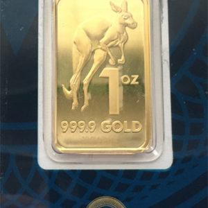 Goldbarren 1oz Australien Kangaroo Feingold 9999