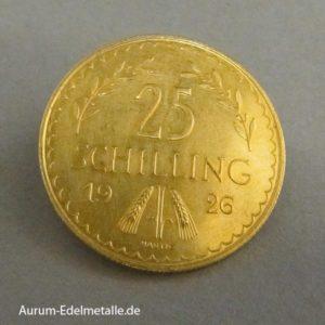 Österreich 25 Schilling Goldmünze 1926-1934