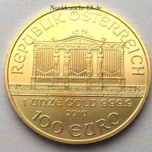 Oesterreich Wiener Philharmoniker 100 Euro 1oz Feingold