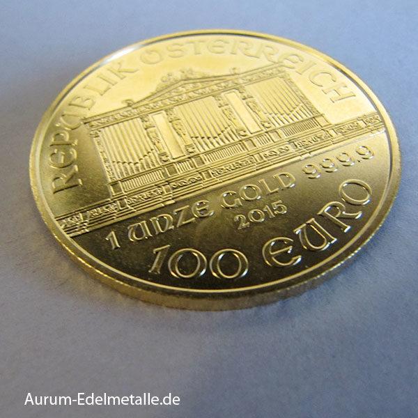 Wiener Philharmoniker Gold 100 Euro Österreich