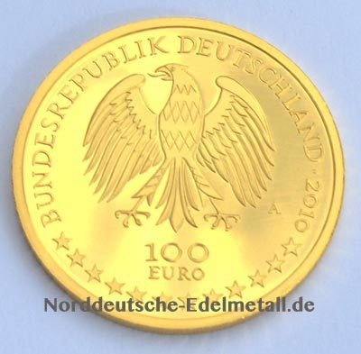 Deutschland 100 Euro 1_2oz Gold Wuerzburger Residenz