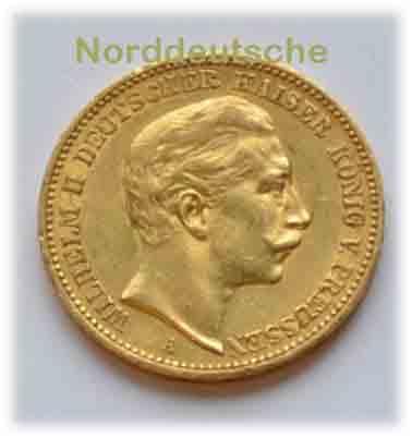 Deutsches Reich 20 Mark Gold 1913 Kaiser Wilhelm