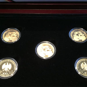 Deutschland 100 Euro Weltkulturerbe Weimar Goldmuenzen in Sammelbox