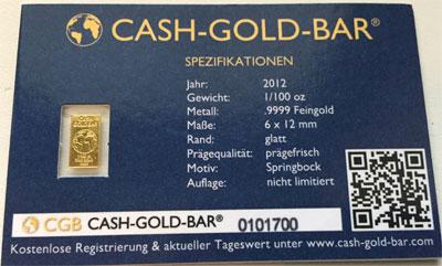 Goldbarren 0_311g 1_100 oz Feingold 9999