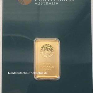 Goldbarren 5g Feingold 9999 Australien Perth Mint