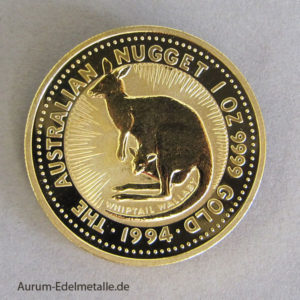 Australien Nugget Kangaroo 1 oz Feingold 1994
