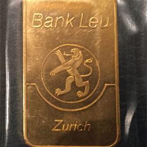 Goldbarren 100g Feingold 9999 historisch Bank LEU produziert von der Compagnie Meteaux Precieux