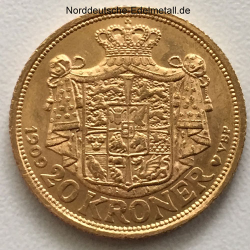 Daenemark-Frederik-VIII-1909-Goldmuenze