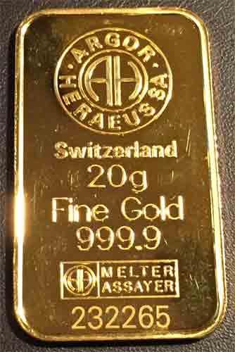 Goldbarren-20g-Feingold-9999-Argor-Heraeus