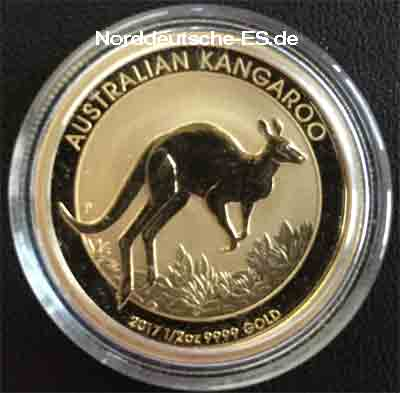 Australien Kangaroo Nugget 1_2 oz Feingold 9999