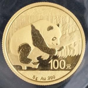 China Panda 100 Yuan 8g Feingold