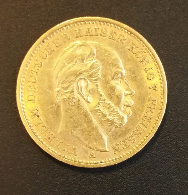Deutsches Reich 20 Mark 1886 Gold