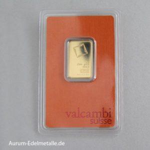 Goldbarren Valcambi Suisse 10g Feingold 9999