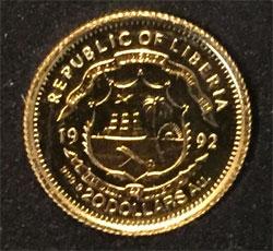 Republic of Liberia 20 Dollars Feingold 9999 - Ayrton Senna