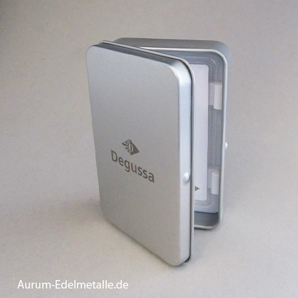 Goldbarren 2_5g Geschenk Metallbox