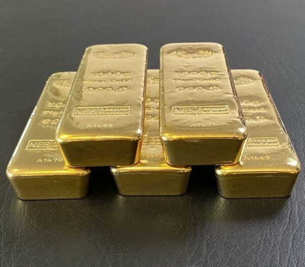 1Kilogramm Goldbarren Feingold 9999 Norddeutsche