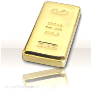 Goldbarren 1 kg Feingold 9999 Norddeutsche ES  gegossen, mit Zertifikat
