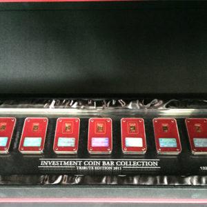 Goldbarren 7x 1g Feingold 9999 Investment Coin Bar Collection 2011