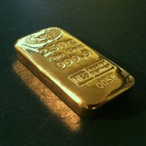 250g Goldbarren 9999 NES 2019