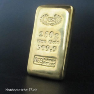 Goldbarren 250g Norddeutsche Edelmetall