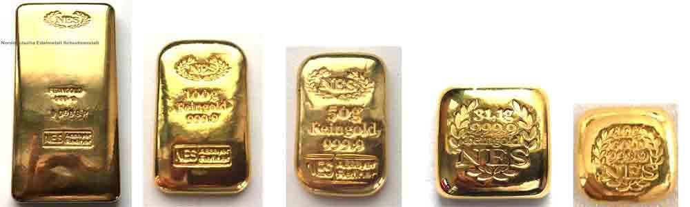 Goldbarren aus Feingold 9999