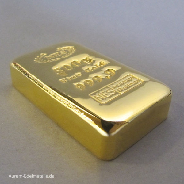 Goldbarren 500g Feingold 9999 Norddeutsche ES