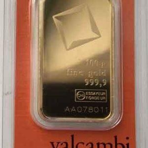 Goldbarren 100 Gramm Feingold 9999 Valcambi