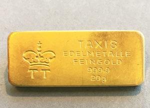 Goldbarren-20g-Feingold-9999-Fuerst-zu-Thurn-und-Taxis
