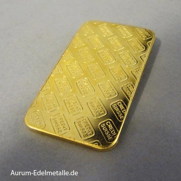 Goldbarren 50g Credit Suisse