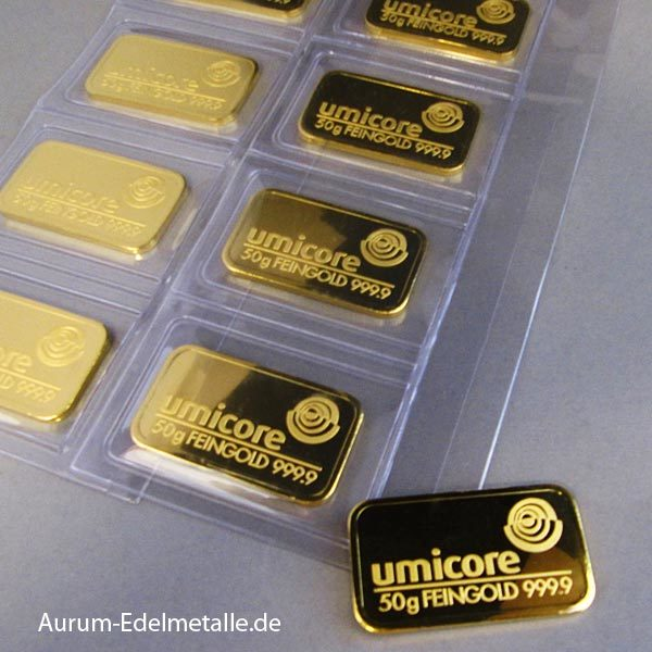 Goldbarren 50g Feingold