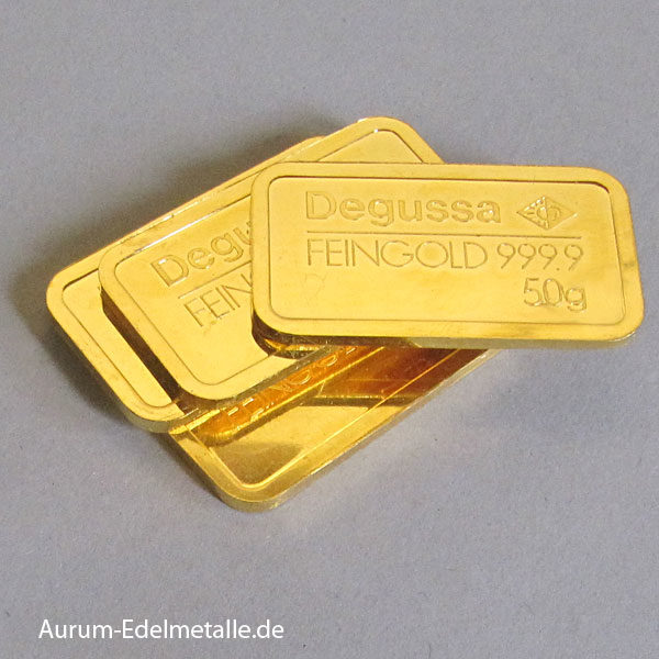 Goldbarren 50g Feingold 9999 von div Herstellern