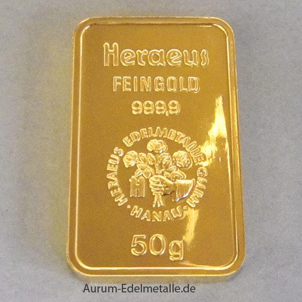 Goldbarren 50g Feingold 9999, von verschiedenen Herstellern