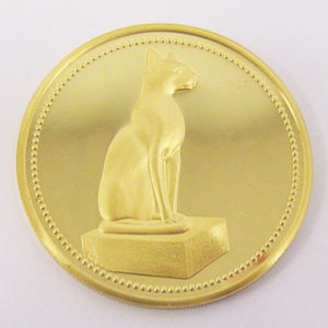 Aegypten 100 Pounds The Golden Cat 1989 Egypt Gold